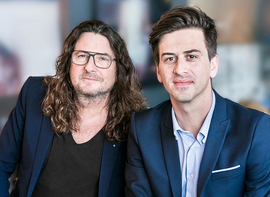 Jacques-Antoine Granjon, PDG et fondateur du Groupe vente-privee.com et Martin Martin Ohannessian, fondateur du Petit Ballon