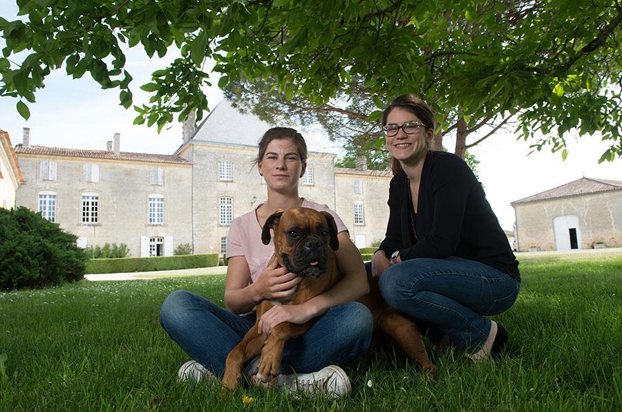 Château des Arras-Gironde-Saint-Gervais-Marie-Caroline et Anne-Cécile Rozier.