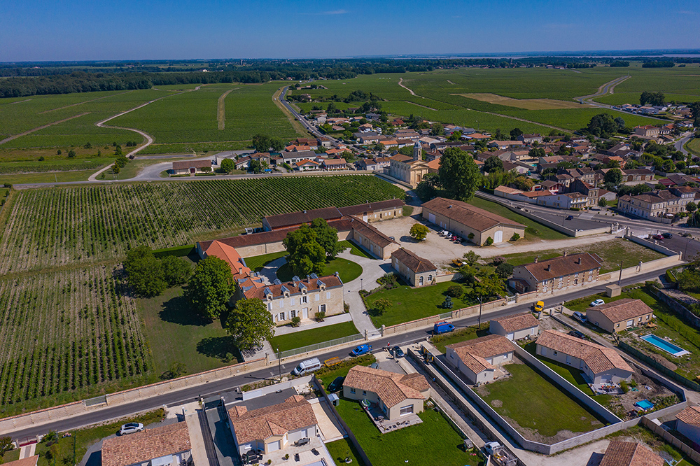 Vue aérienne Château Arnauld